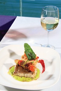 Baja Lobster Co. boasts several preparations of its catch of the day, including with pea puree, melon, baby potato, ponzu sauce, and a red wine vinaigrette.