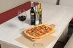 Pizza Regina Margherita: THIN CRUST NEAPOLITAN INSPIRED PIZZA WITH A UNIQUE CRUNCH AND RECTANGULAR SHAPE. CLASSIC NEAPOLITAN TOMATO SAUCE, MOZZARELLA & PARMIGIANO