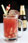 cool down with a seafood cocktail, a variation on the popular clamato, at the Veracruz-style restaurant Mariscos Mocambo.